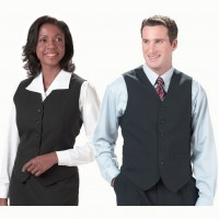 Slim fit hotel front desk uniforms