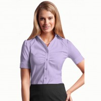 Stand-Up Collar Women Dress Shirt