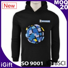 black hoody with logo for man