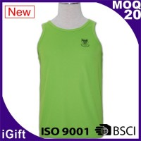 green long vest with logo
