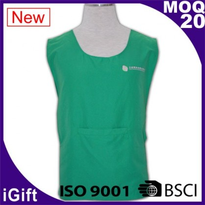 green workwear vest with logo