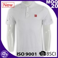 Custom 2017 fashion cotton/polyester classic mens t shirts polo small MOQ