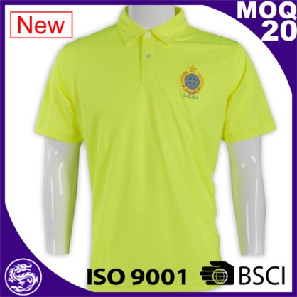 Wholesale Custom Embroidery Two Color Uniform Pique Polo Shirt Design