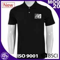 Custom Tops Men's Polo Shirt Sports Black
