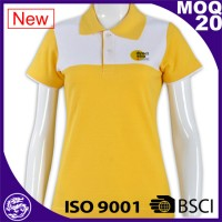BSCI/ISo9001 2017 mens customized print CVC polo shirt manufacture
