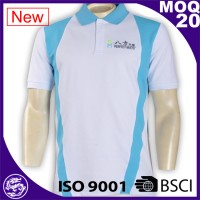 Hot sale high quality ribbed collar cheap custom branded mens polo shirts