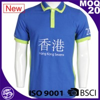 Guangzhou, China, factory custom men's blue sports loose big yards polo shirt