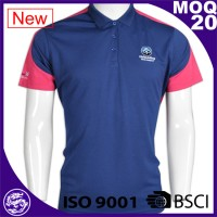 2017 mens customized print CVC polo shirt manufacture