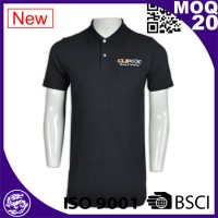 wholesale cotton polyester bule color short sleeve polo shirt for sale