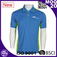 Hot sale high quality ribbed collar custom branded mens polo shirts wholesale