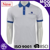 BSCI & ISO 9001 certified cotton polyester dry fit customized print embroidered polo shirts