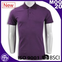 Hot sale high quality ribbed collar cheap custom branded polo shirt men