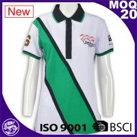 BSCI/ ISO 9001 Factory Wholesale new design softtextile women custom polo shirt