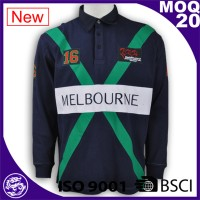 ISO9001/BSCI factory in China new designs Australia bulk rugby shirts