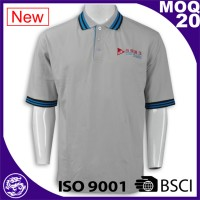 Hot sale high quality ribbed collar cheap custom branded office polo shirt