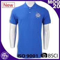 BSCI China factory sports wear polo shirts with company embroidery logo
