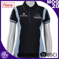 BSCI/ISO9001 2016 Discount Garment Wash Polo lapel sports embroidery/Sublimation polo shirts for women