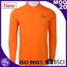 BSCI/ISO9001 2016 Discount Garment Wash Polo lapel sports embroidery/Sublimation long sleeve polo