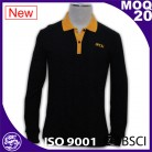 Fashion Eco Friendly Classical CVC long sleeve Polo Shirt