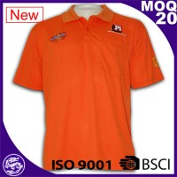 BSCI & ISO 9001 certified 100% polyester dry fit polo customized print polo perfume