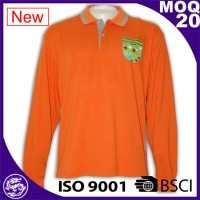 Orange Tailor-made high Quality Unisex Cottont long polo shirt