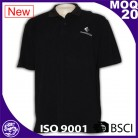 black men short sleeve customized new design 100% cotton polo shirts with pockets