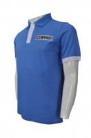 Design Blue and White Polo Shirt
