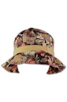 HA216 floral bucket hat wholesale, custom design floral fisherman hat, wholesale bulk floral bucket hats ladies