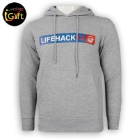 sport printed grey hoodies with front pocket