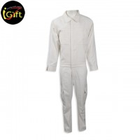 Beige coverall uniform