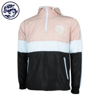contract color hoodie jacket with logo