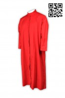 Custom-Made Red Pastor Robes