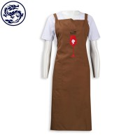 Design Embroidered Logo Apron HK Apron Supplier
