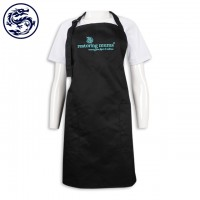 design black full body apron embroidery logo apron manufacturer