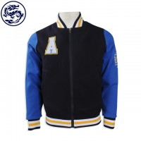 Design double-sided baseball Jacket Order contrast color sleeve baseball Jacket PUBS front and back wear reverse Reverse make a color flat baseball Jacket baseball Jacket store