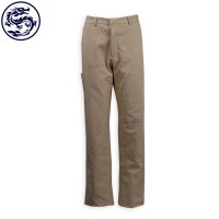 custom-made khaki tooling trousers straight leg pants 108*56 twill 100% cotton yarn card thickness trousers garment factory