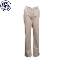 Design Khaki Women's Work Trousers 128*60 Cotton Yarn JAS Trousers Supplier