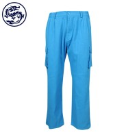 Making multi-bag work trousers Straight leg pants Two-side waist elastic rib pants store