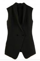 Online women's suit cotton vest waistcoat Chiffon collar Simple and self-cultivating waistcoat center