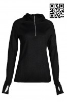 tailor made fit ladies' sports clothing reflective pe PE clothing design finger hole sports uniform center company