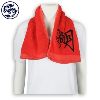 custom-made net color towel embroidered logo cotton towel supplier