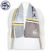 custom-made sports towel microfiber sublimation insurance company towel supplier