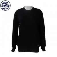 Sample made 50% wool 50% acrylic Long-sleeved knit sweater Online order round neck long-sleeved knit sweater style Design net color sweater franchise store