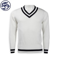 design net color V-neck sweater 2/32 cotton 476G sweater factory