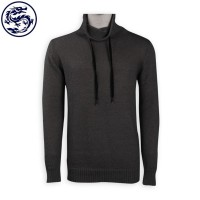 Customized Net Color Turtleneck Sweater Rope 100% Polyester HK Sweater Supplier