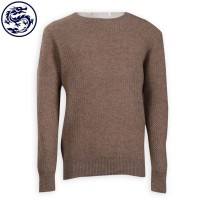 Design Men's Round Neck Long Sleeve Sweater 100% Wool Australia Sweater Manufacturer