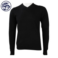 Design Long Sleeve Tight V-Neck Sweater 16% Wool 16 Acrylic 35% Nylon 33% Polyester Sweater Manufacturer