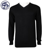 custom-made long-sleeved tight-fitting V-neck sweater