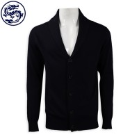 custom-made black open chest V-neck jacket 2/32s100 cotton 420G cold coat garment factory