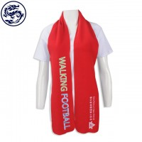 custom-made scarf style printed embroidery scarf football team production scarf manufacturer